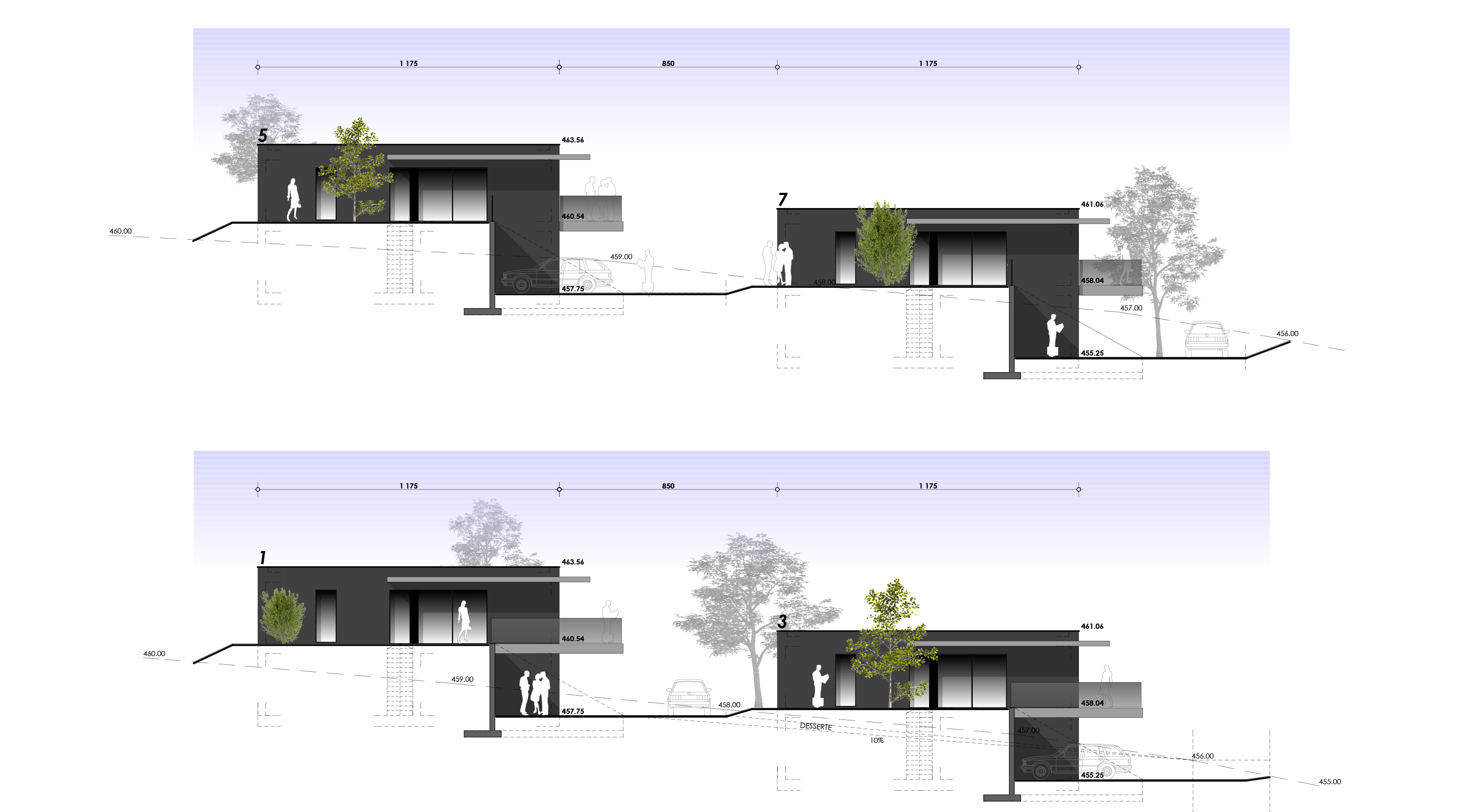 ELEVATIONS OUEST
